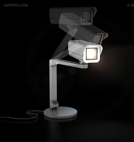 No es una cámara de seguridad; es una lámpara!
