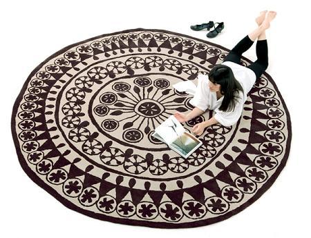 6 alfombras redondas decoraci n for Alfombras persas redondas