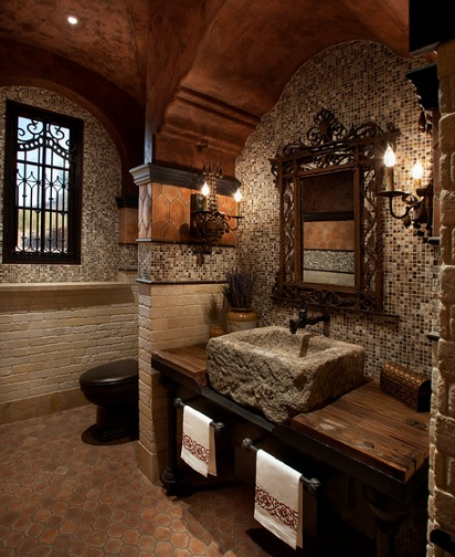 Baños Rusticos Ideas:Medieval Bathroom Designs