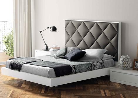 Decoraci n 8 camas de matrimonio modernas - Cabecero mesillas integradas ...