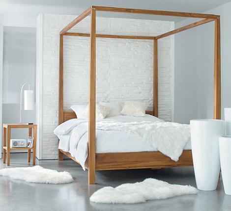8 camas de matrimonio modernas decoraci n - Cama dosel madera ...