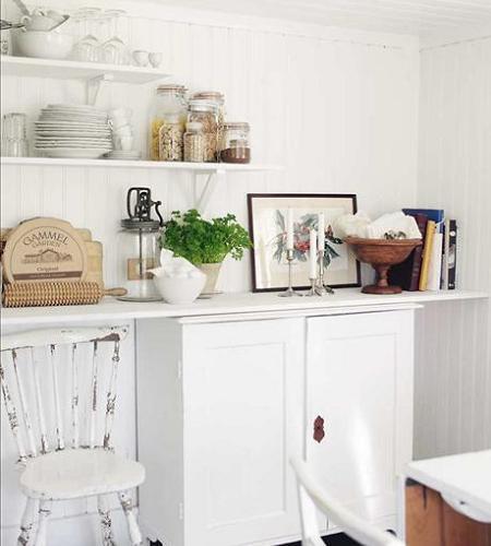 Cocinas shabby chic decoraci n - Cocinas vintage blancas ...