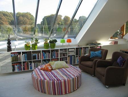 Buhardilla: sala de lectura