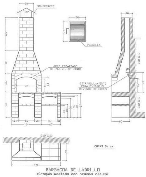C mo construir una barbacoa de obra paso a paso - Como hacer una chimenea de obra ...