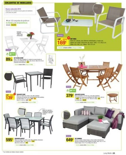 Cat logo de leroy merl n terraza y jard n 2014 decoraci n for Muebles leroy merlin catalogo