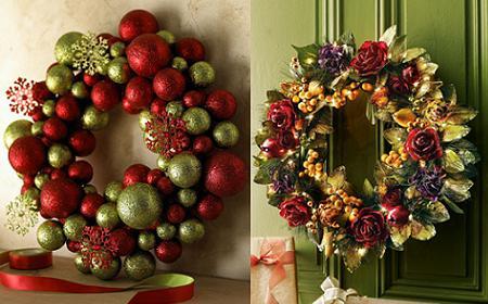 Decoraci n las nuevas coronas de navidad muy sofisticadas for Arreglo para puertas de navidad