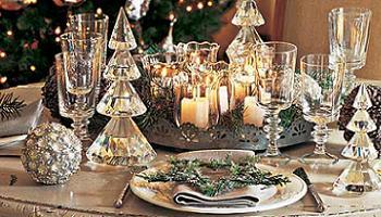 Decoraci n ideas para decorar la mesa de navidad copas - Mesas para navidad decoracion ...