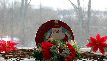 decoración de navidad en ventanas