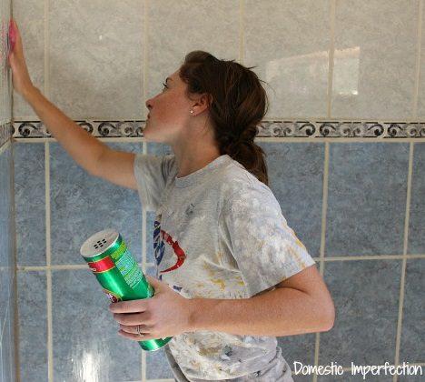 cómo pintar azulejos de cerámica