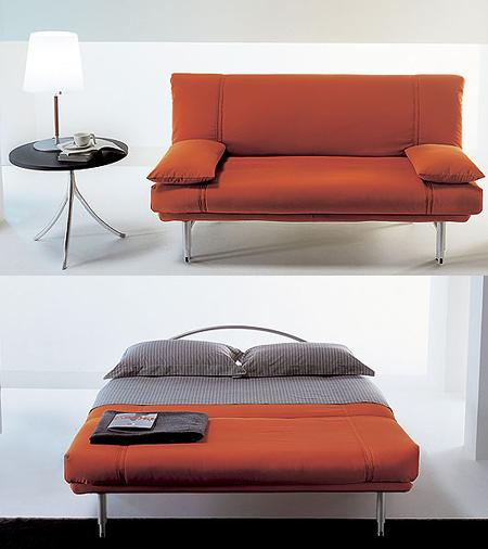 Decoraci n 10 sof s cama de dise o ideales para for Sofa cama de pared