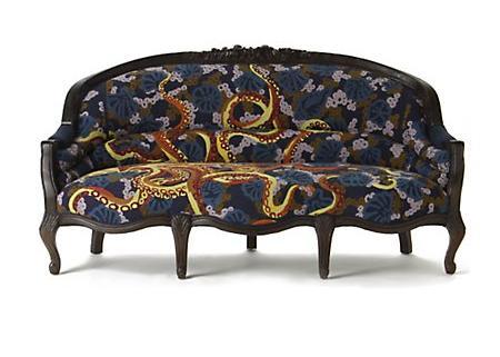 Los sofás más vintage son de Anthropologie