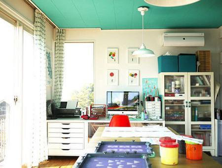 Decoraci n techo pintado for Pintar techo cocina