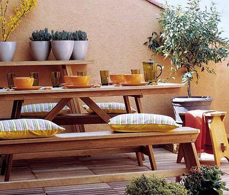 8 fotos de terrazas decoraci n for Comedores exteriores para terrazas