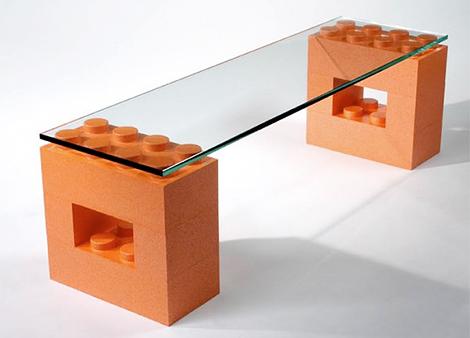Muebles de diseño con piezas de Lego – Decoración