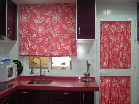 Cortinas para ventanas de cocina imagui for Cortinas para puertas de cocina