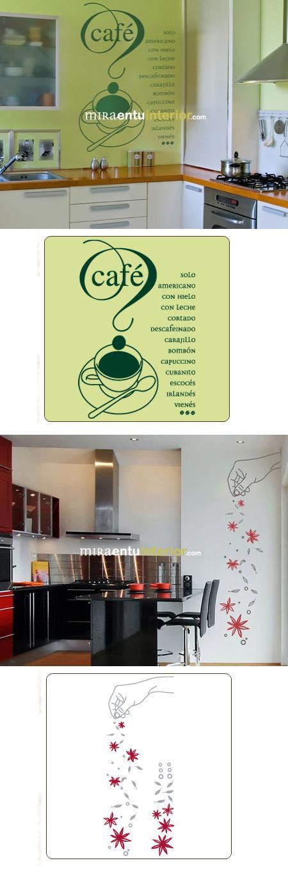 Kit vinilos adhesivos decorativos para la cocina - Vinilos adhesivos para cocina ...