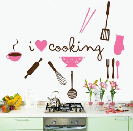 Decoraci n vinilos decorativos para la cocina for Decoracion vinilos