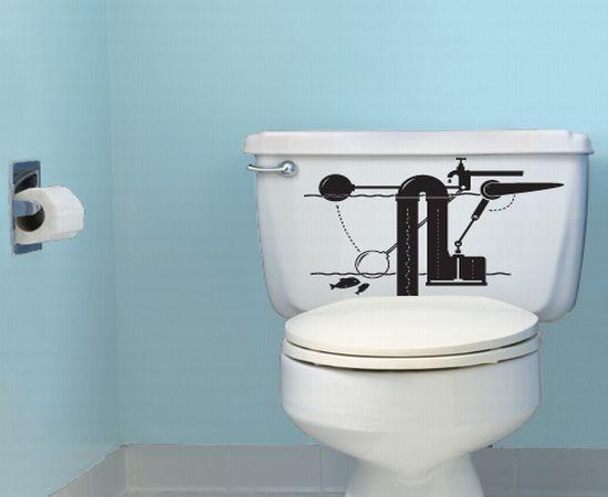 Vinilos para el cuarto de ba o en la cisterna decoraci n - Vinilo para el bano ...