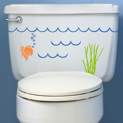 Vinilos para el cuarto de ba o en la cisterna decoraci n for Vinilos para paredes de banos