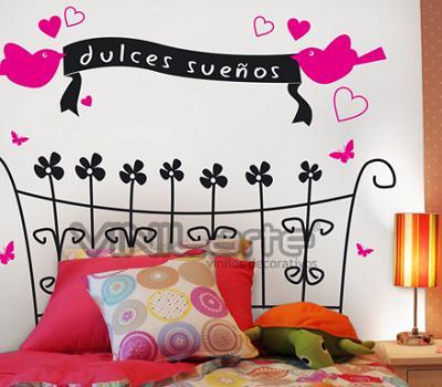 Decora las paredes de tu dormitorio con vinilos decoraci n - Vinilos para pared de dormitorio ...