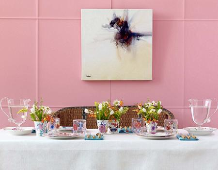 Vajilla de flores de Zara Home