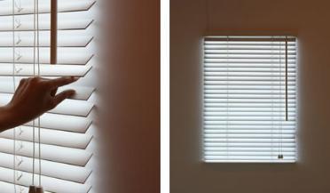 ventana persiana luz