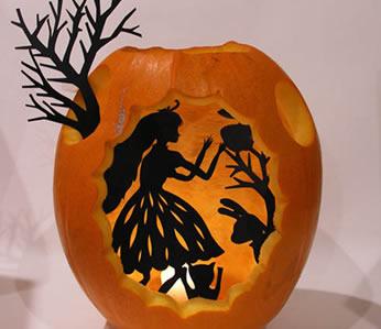 Una forma muy f cil y original de decorar una calabaza de - Decoracion calabazas para halloween ...
