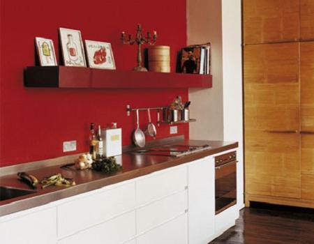 Hay que tener cuidado al pintar las paredes de rojo