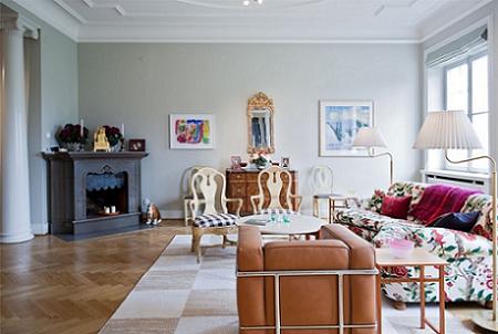 El salón mezcla estilos a la perfección