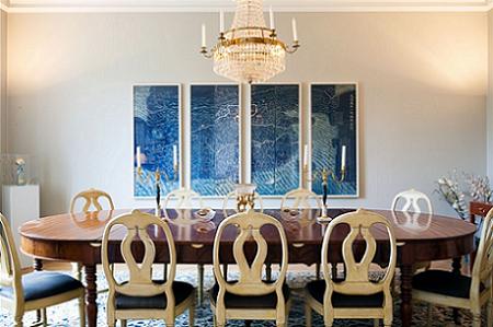 El comedor mezcla estilo clásico y moderno