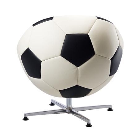 Sillón con forma de pelota de fútbol