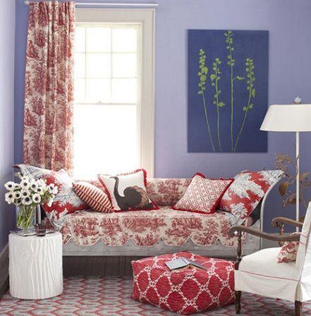 muebles rojo