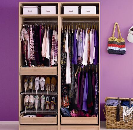 C mo organizar un armario decoraci n - Como organizar un armario empotrado pequeno ...