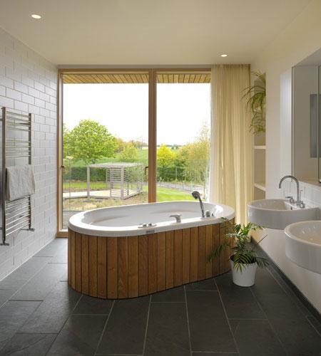 Decoración del baño en madera
