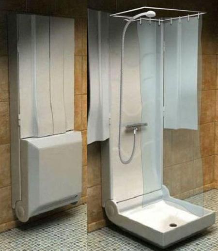 Ducha plegable: solución para baños pequeños