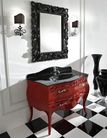 Cómoda vintage para la decoración del baño