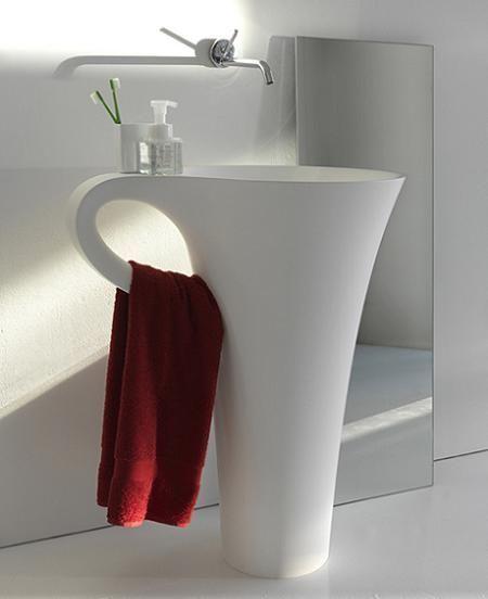 Lavabo con forma de taza