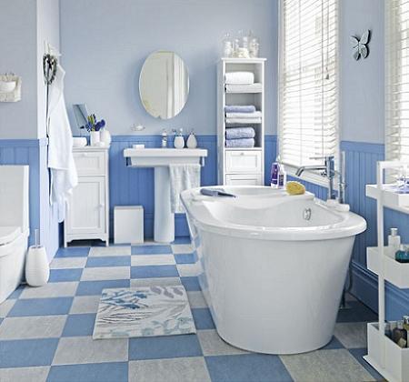 Baño azul clarito