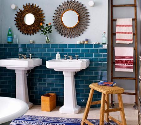 Baño azul con encanto