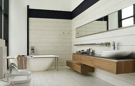 Baño de madera Porcelanosa