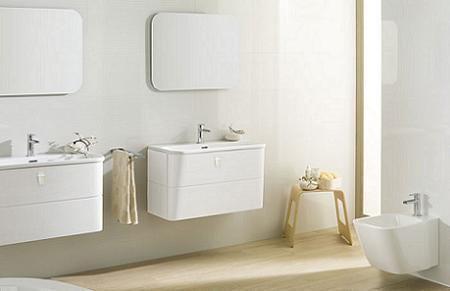 Baño moderno en blanco
