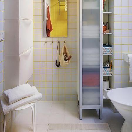 Muebles blancos para el baño