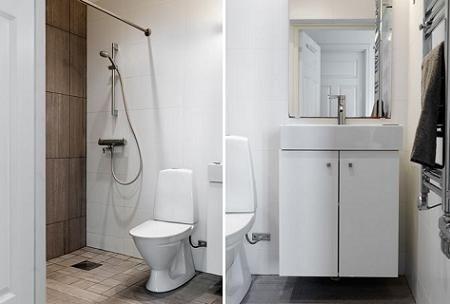 Ba os modernos y peque os decoraci n for Aseos modernos con ducha