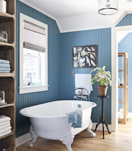 Baño rústico-moderno