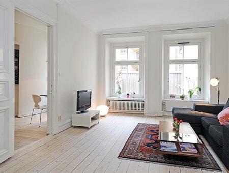 Apartamento de muebles y decoración rústica