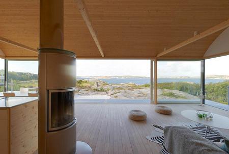 Casa de verano de madera