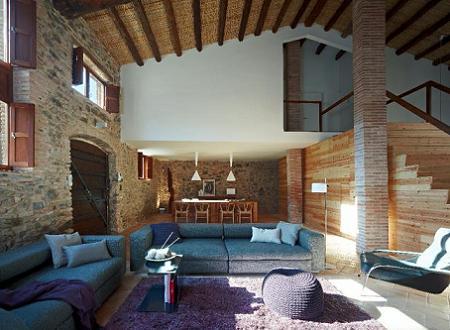 Casa de campo moderna decoraci n for Casas de campo decoracion interior