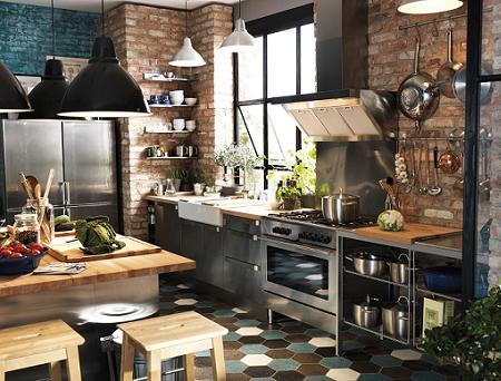 Cocinas de estilo industrial decoraci n - Utensilios de cocina industrial ...
