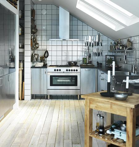 Cocina de Ikea estilo industrial