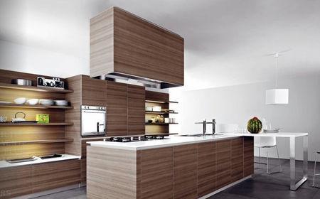 Cocina de madera de teca
